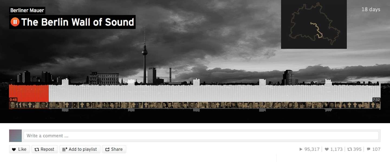 SoundCloud creëert de Berlijnse muur met geluid