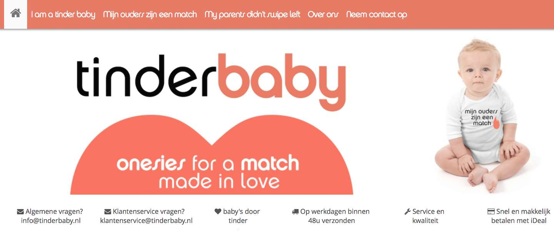 Nederlandse webshop met Tinderbaby-kleding groot succes