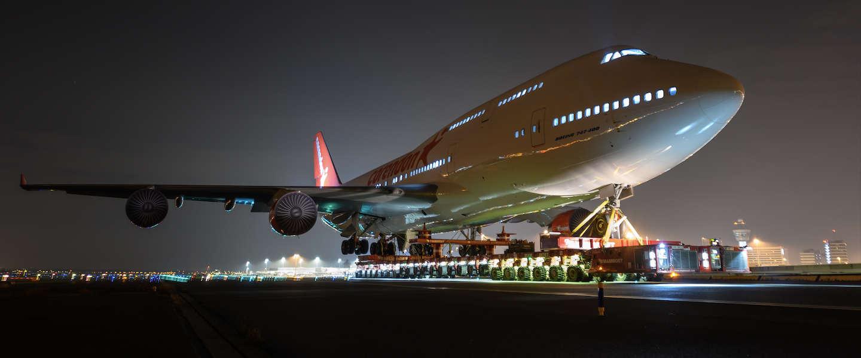 Foto's van megatransport Boeing 747