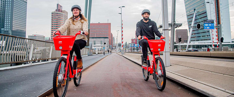 De elektrische fietsdienst Jump van Uber nu ook beschikbaar in Rotterdam