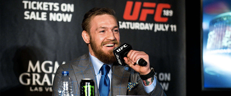 Conor McGregor op zijn best tijdens persconferentie