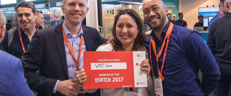 Vatfree.com winnaar BIG-small Pitch Startup Event