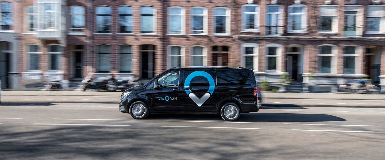 ViaVan, een on-demand shared riding service, start in Amsterdam