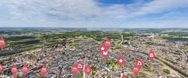 Mechelen te bezoeken in Virtual Reality