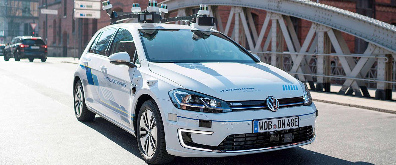 Volkswagen start in Hamburg met het testen van autonome auto's