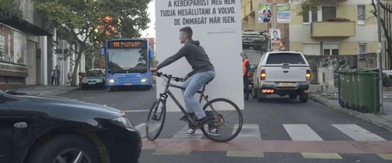 Volvo's fietsers en wandelaars detectie systeem