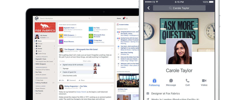 Facebook komt ook met een gratis versie van Workplace
