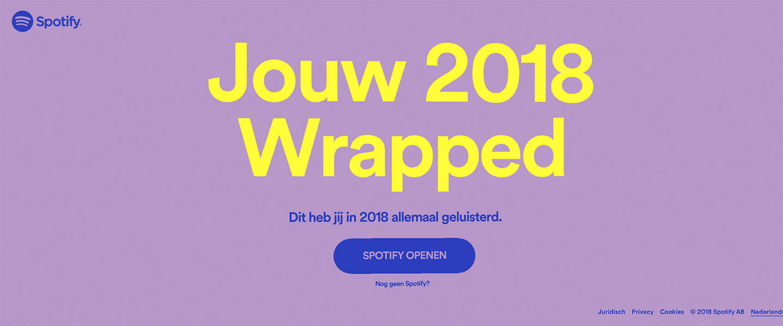 Spotify Wrapped 2018: wat luisterde jij dit jaar op Spotify?