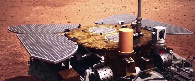 Chinese Mars rover Zhurong begonnen aan Pinksterrally