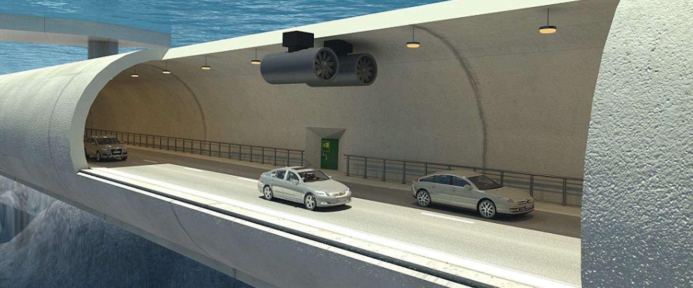 Noorwegen bouwt 's werelds eerste zwevende tunnel onder water