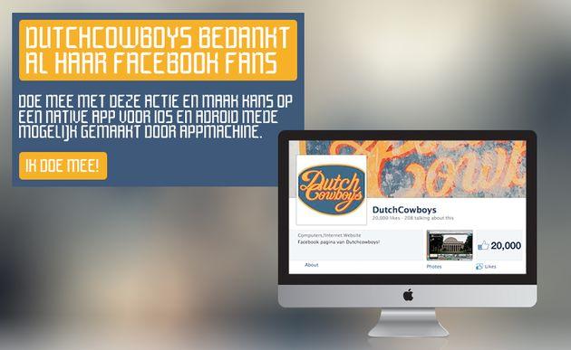 20k likes op Facebook! Maak kans op een native iOS & Android app