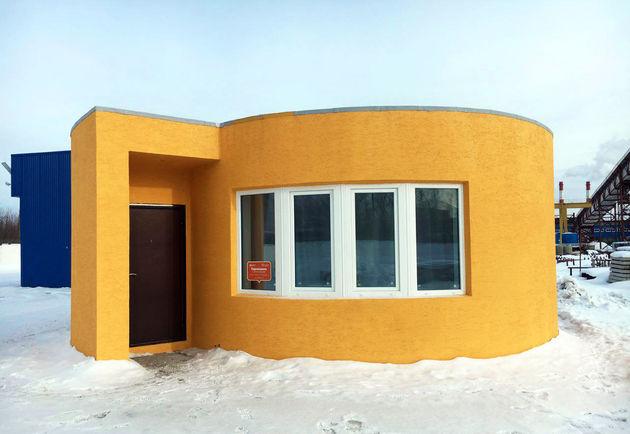 Klein Huis Bouwen : Mobiele d printer bouwt binnen uur een compleet huis