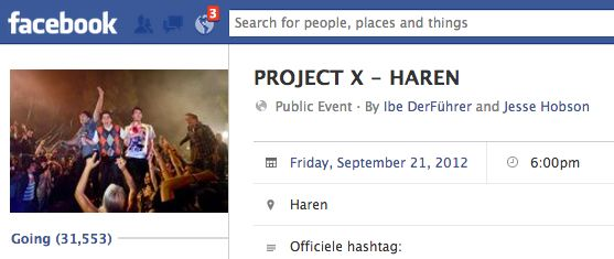 52.227 Project X Facebook posts en comments. Wat kun jij vinden?