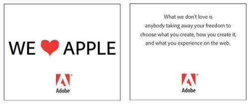 Adobe houdt nog steeds van Apple, of toch weer niet?