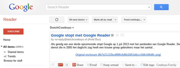 Alternatieven voor Google Reader