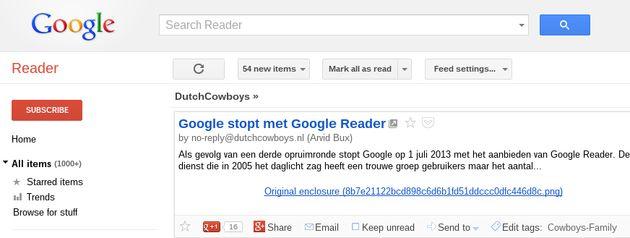 Alternatieven voor Google Reader