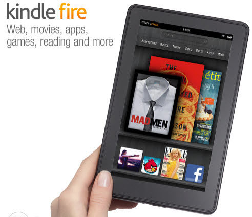 Amazon tablet Kindle Fire is klein (7 inch), Android en kost $199