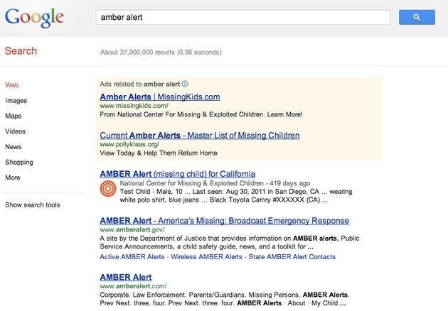 AMBER Alert terug te vinden in Google Search en Maps