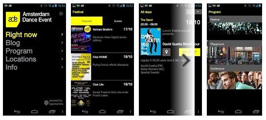 Amsterdam Dance Event (ADE) komt met app voor iPhone en Android