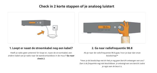 Analoge radio kabel