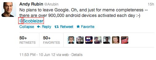 Andy Rubin: Per dag worden er 900.000 Android devices geactiveerd