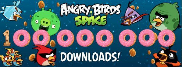 Angry Birds Space nu al 100 miljoen keer gedownload