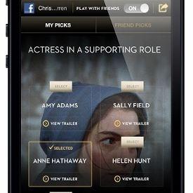 App voor de Oscars dit jaar met social media functies