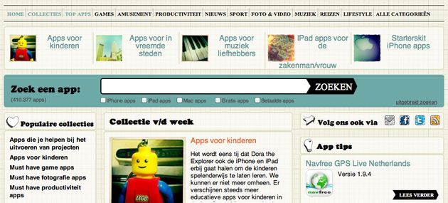 AppFish, een website met Nederlandstalige app-reviews