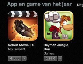 Apple kroont 'Action Movie FX' tot iPhone app van het jaar 2012