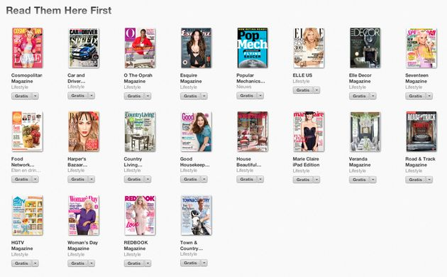 Apple rolt 'Read Them Here First' sectie uit in Newsstand