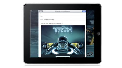 Apple's eerste iAd : Tron Legacy