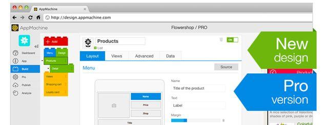 AppMachine komt met Windows Phone, HTML 5 en volwaardige Pro versie voor ontwikkelaars