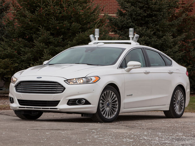 Autonoom rijdende Fusion Hybrid Research Car van Ford
