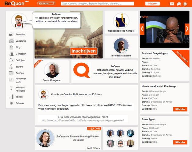 BeQuan wil strijd aangaan met Facebook en LinkedIn