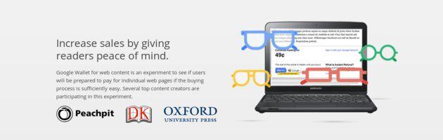 Betaal voor web content met Google Wallet