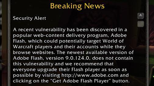 Beveiligingslek in Adobe Flash