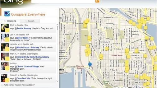 Bing gebruikt Foursquare data om zijn kaarten te verbeteren