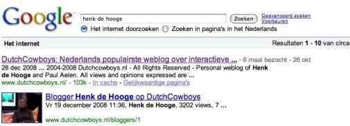 Bloggers extra in daglicht bij Google