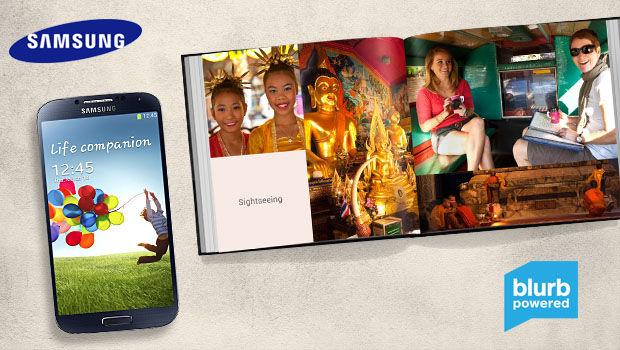 Blurb: Fotoboeken en magazines zijn ook te maken op de Galaxy S 4