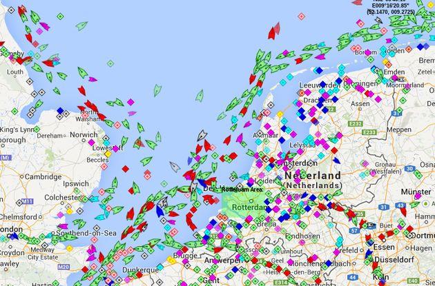 Boten kijken op Live Ships Map