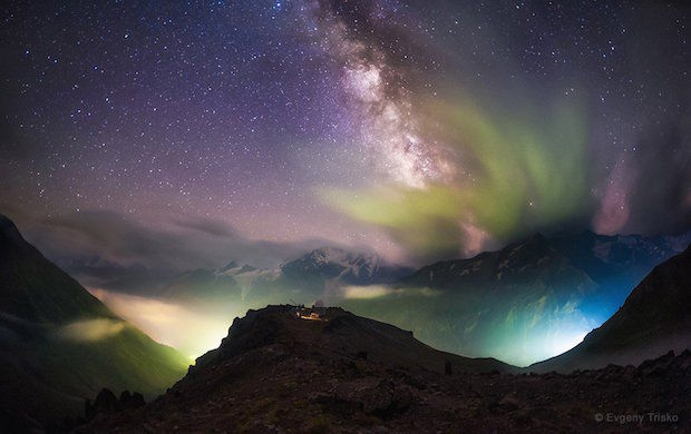 Caucasus bergen in Rusland