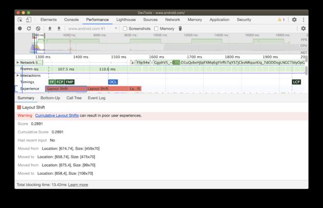 Chrom dev tools - Core web vitals-6