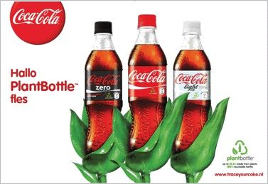 Coca-cola start campagne rondom PlantBottle fles