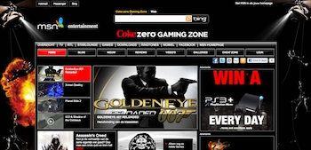 Coca-Cola Zero gaming platform