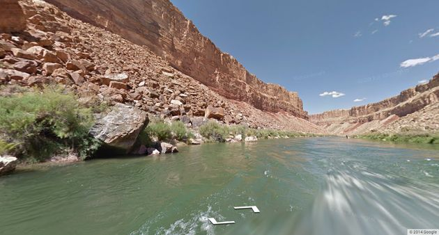 Colorado River nu op Google Street View