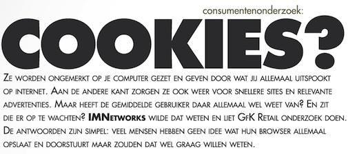 Consument op internet kent zijn cookies niet
