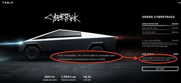 Cybertruck-Tesla-Uitstel