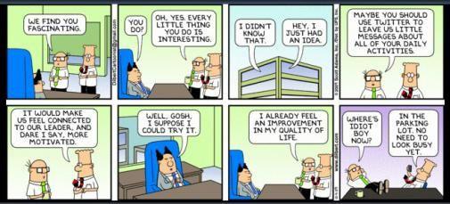 De beste reden om je baas op Twitter te krijgen