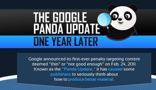 De Google Panda Update, één jaar later [Infographic]