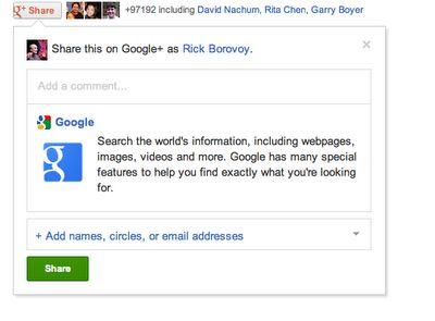 De Google+ share button